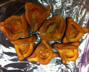 Apricot Custard Hamantaschen with Yeast Dough